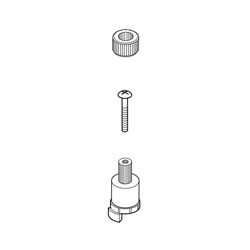 Brizo® RP70607 Charlotte® Screw Adapter and Insert, For Use With T67385 and T67485 2-Handle Roman Tub Trim