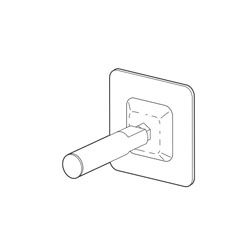 Brizo® RP71229 Virage® Adjustable Post, For Use With Model 698030 Wall Mirror, Import