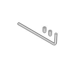 Brizo® RP72970BL Odin Set Screw and Hex Key, For Use With Jason Wu for Brizo® Bath Collection 691060 Series Glass Shelf, Matt Black
