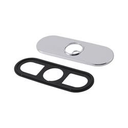 DELTA® RP72991BL Trinsic® 3-Hole Escutcheon and Gasket, For Use With Compel® Trinsic® 561LF 1-Handle Lavatory Faucet, Matte Black, Import