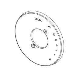 DELTA® RP73374BL Trinsic® Escutcheon, For Use With Trinsic® Compel® Monitor® 17 Series T17061, T17261 and T17461 H2Okinetic® Tub and Shower Trim, Matte Black, Import