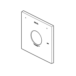 DELTA® RP75436BL Zura™ Universal Escutcheon and Gasket, For Use With Zura® Monitor® 14 Series T14074, T14274, T14474 and T14274-LHD Valve Only Trim, Matte Black, Import