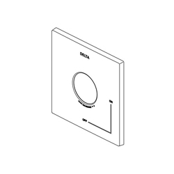 DELTA® RP75438BL Ara® Universal Escutcheon and Gasket, For Use With Zura® TempAssure® 17T Series T17T074, T17T274 and T17T474 Valve Only Trim, Matte Black, Import