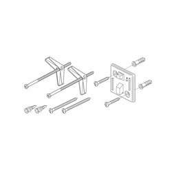 Brizo® RP75596PC Vesi® Mounting Hardware, For Use With Model 69850 Tissue Holder, Chrome Plated, Import