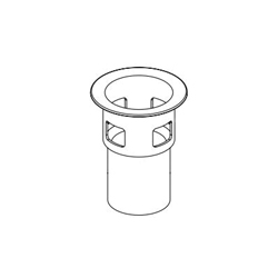 DELTA® RP77711BL Flange Body, For Use With Model 72175 Square Push Pop-Up with Overflow, Import