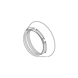 DELTA® RP78745BL Tesla® Cap and Bonnet, For Use With Trinsic® Tesla® T3559LF-WL 1-Handle Wall Mount Lavatory Faucet Trim, Matte Black, Import