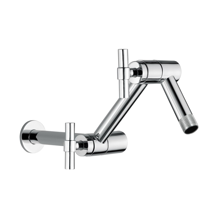 Brizo® RP81434PC Litze™ Jointed Shower Arm and Flange, 16 in L x 4-1/8 in W, Solid Brass, 1/2 in NPT, Import