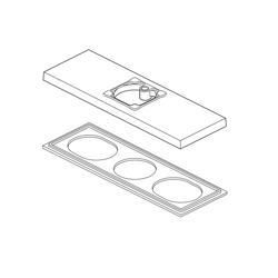 DELTA® RP90057BL Ara® 3-Hole Escutcheon and Gasket, For Use With Ara® 567LF 1-Handle Lavatory Faucet, Matte Black, Import