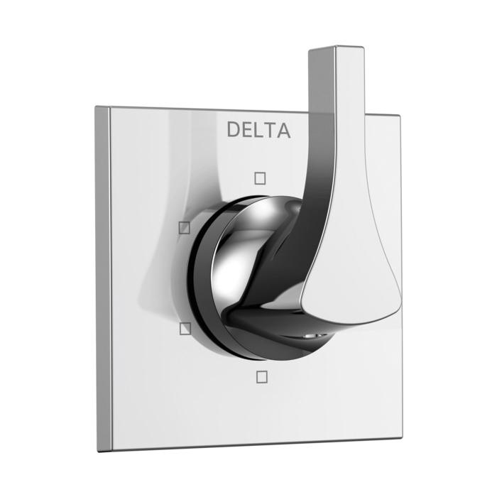 DELTA® T11974 3-Port 6-Setting Diverter Trim, Hand Shower Yes/No: No, Chrome Plated