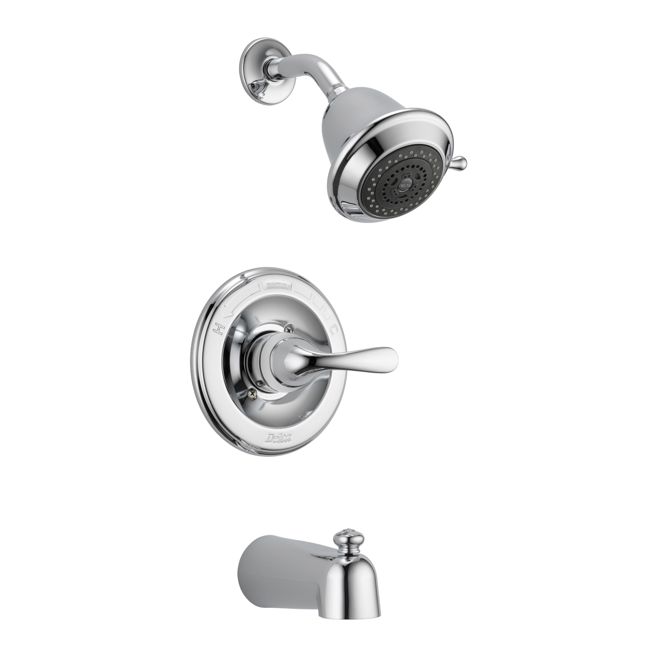 DELTA® T13420-SHCCER Monitor® 13 Tub and Shower Trim, 1.75 gpm Shower, Hand Shower Yes/No: No, Chrome Plated