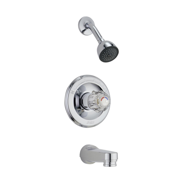 DELTA® T13422-PD Monitor® 13 Tub and Shower Trim, 1.75 gpm Shower, Hand Shower Yes/No: No, Chrome Plated