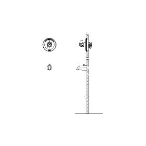 DELTA® T13H203 Universal Tub and Shower Trim, 1.2 gpm Shower, Hand Shower Yes/No: No, Chrome Plated