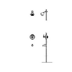 DELTA® T13H222 Monitor® 13 Universal Tub and Shower Trim, 1.75 gpm Shower, Hand Shower Yes/No: No, Chrome Plated