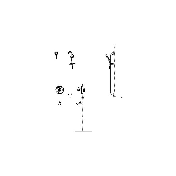 DELTA® T13H253-05 Universal Tub and Shower Trim, 1.5 gpm, Chrome Plated, Domestic
