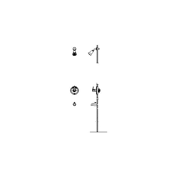 DELTA® T13H282 Universal Tub and Shower Trim, 1.5 gpm Shower, Hand Shower Yes/No: No, Chrome Plated