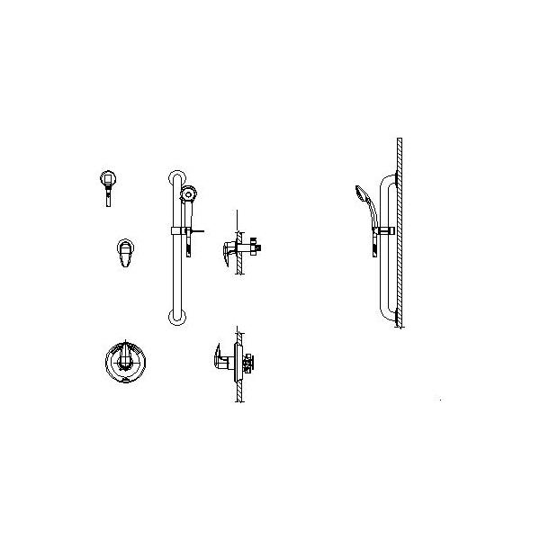 DELTA® T13H302-20 Universal Shower Valve Trim, MultiChoice®, 1.5 gpm, Polished Chrome, Domestic
