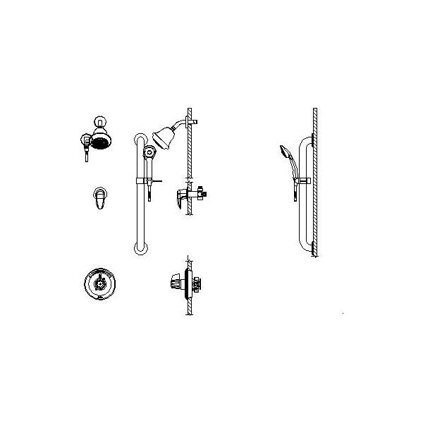 DELTA® T13H323 Universal Shower Valve Trim, MultiChoice®, 1.75 gpm, Polished Chrome, Domestic