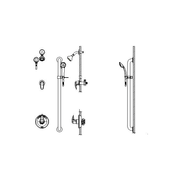 DELTA® T13H332-25 Universal Shower Valve Trim, MultiChoice®, 1.5 gpm, Polished Chrome, Domestic