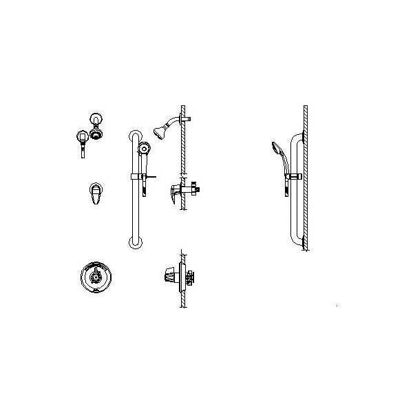 DELTA® T13H333-20 Universal Shower Valve Trim, MultiChoice®, 1.5 gpm, Polished Chrome, Domestic
