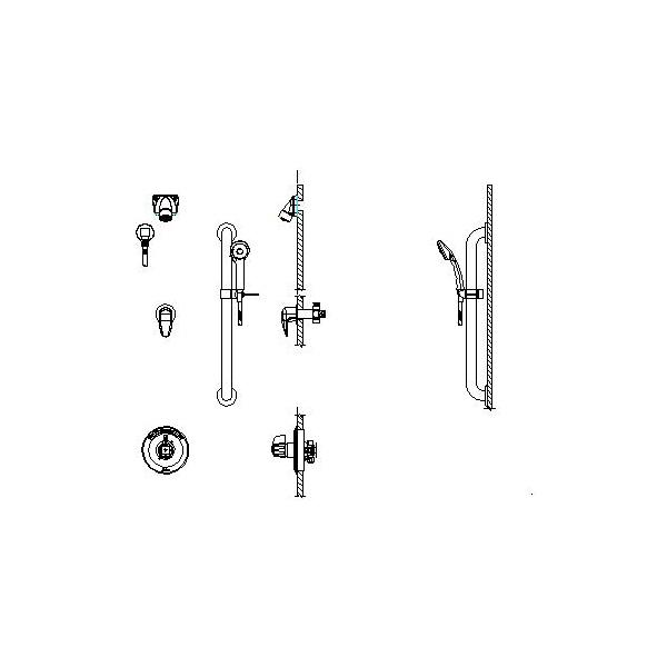 DELTA® T13H363 Universal Shower Valve Trim, MultiChoice®, 1.5 gpm, Polished Chrome, Domestic