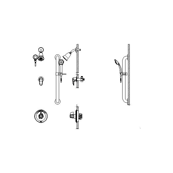 DELTA® T13H383 Universal Shower Valve Trim, MultiChoice®, 1.5 gpm, Polished Chrome, Domestic