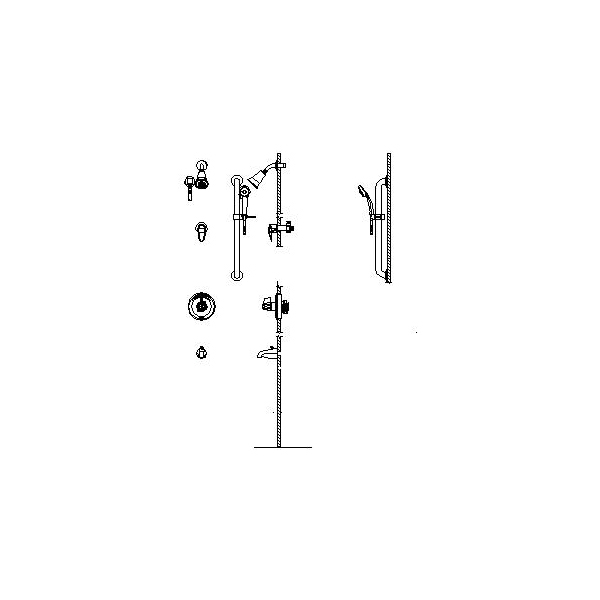 DELTA® T13H983-20 Universal Tub and Shower Trim, MultiChoice®, 1.5 gpm, Chrome Plated, Domestic