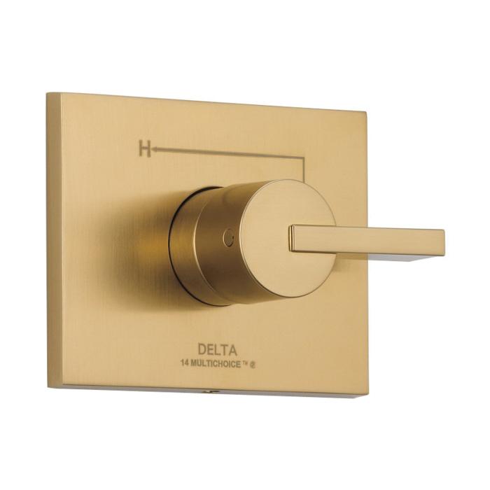 DELTA® T14053-CZ Monitor® 14 Valve Trim, 2.5 gpm Shower, Champagne Bronze