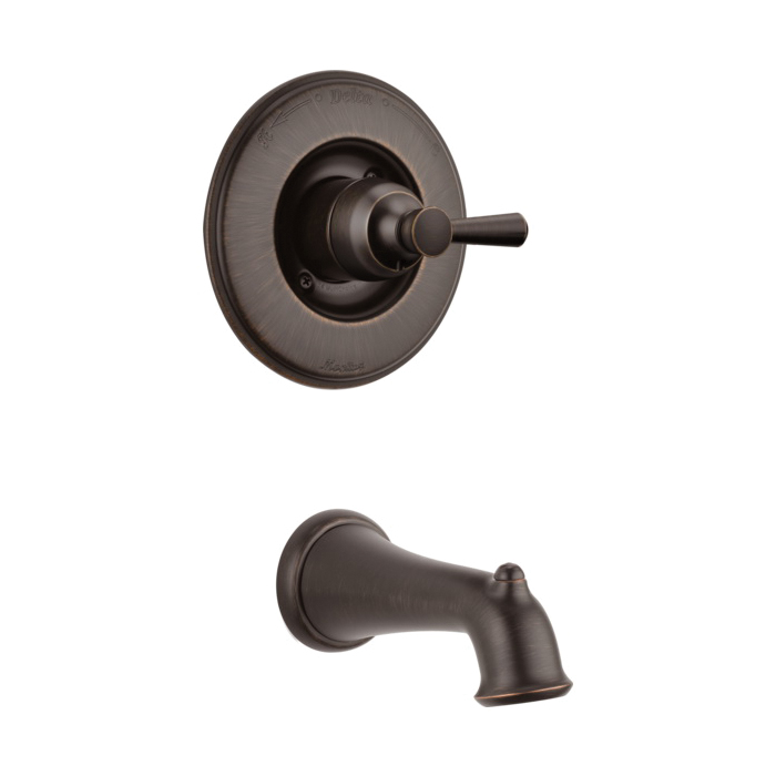 DELTA® T14193-RB Monitor® 14 1-Function Wall Mount Tub Trim, Linden™, Venetian Bronze, 1 Handles, Hand Shower Yes/No: No, Domestic, Commercial