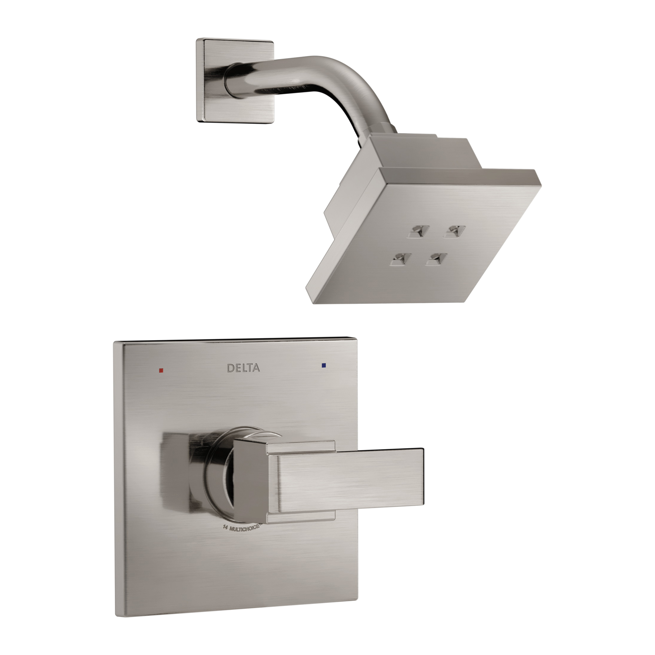 DELTA® T14267-SSH2O Monitor® 14 Shower Trim, 1.5 gpm Shower, Hand Shower Yes/No: No, Stainless Steel