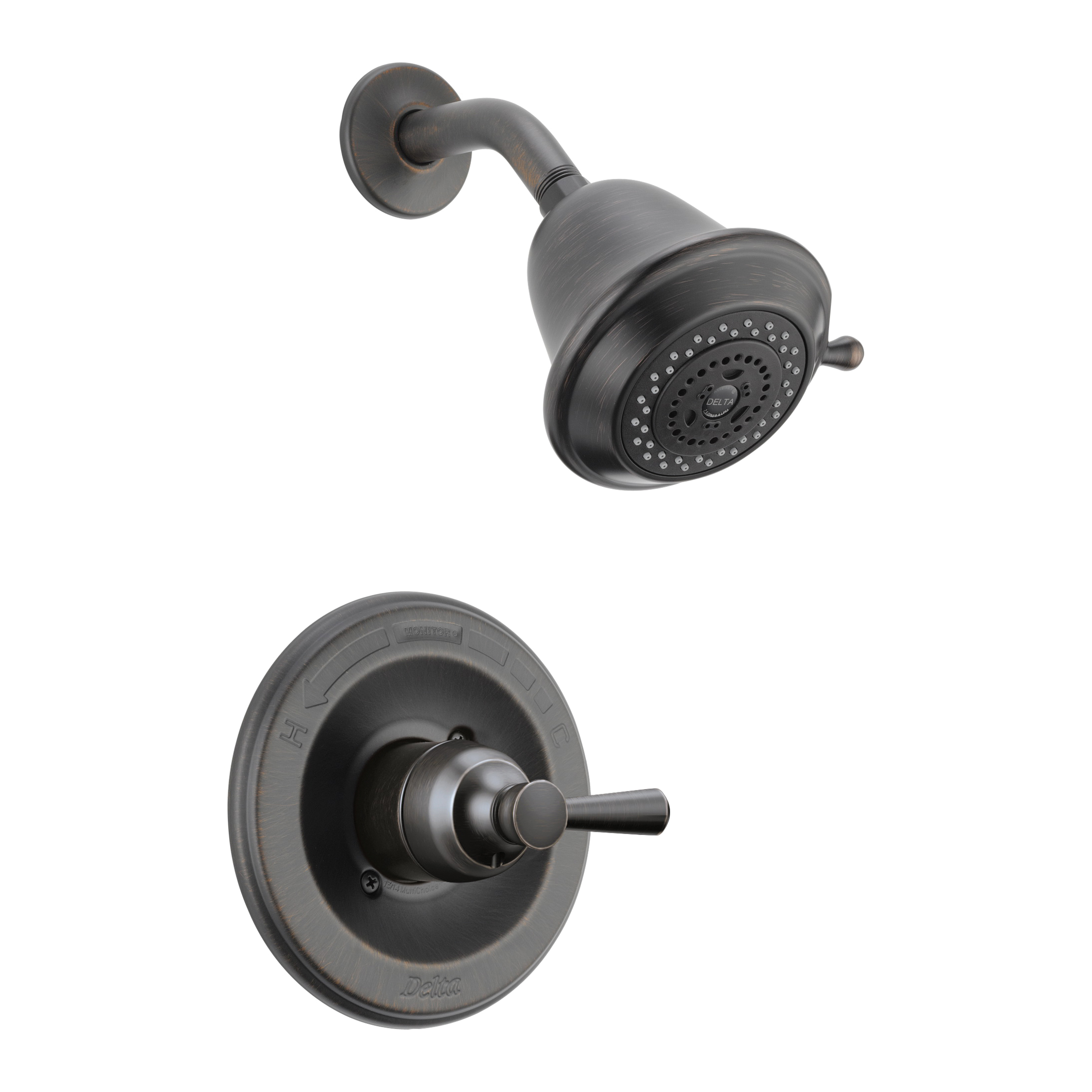 DELTA® T14278-RBSHCCER Monitor® 14 Traditional Shower Trim, 2 gpm Shower, Hand Shower Yes/No: No, Venetian Bronze