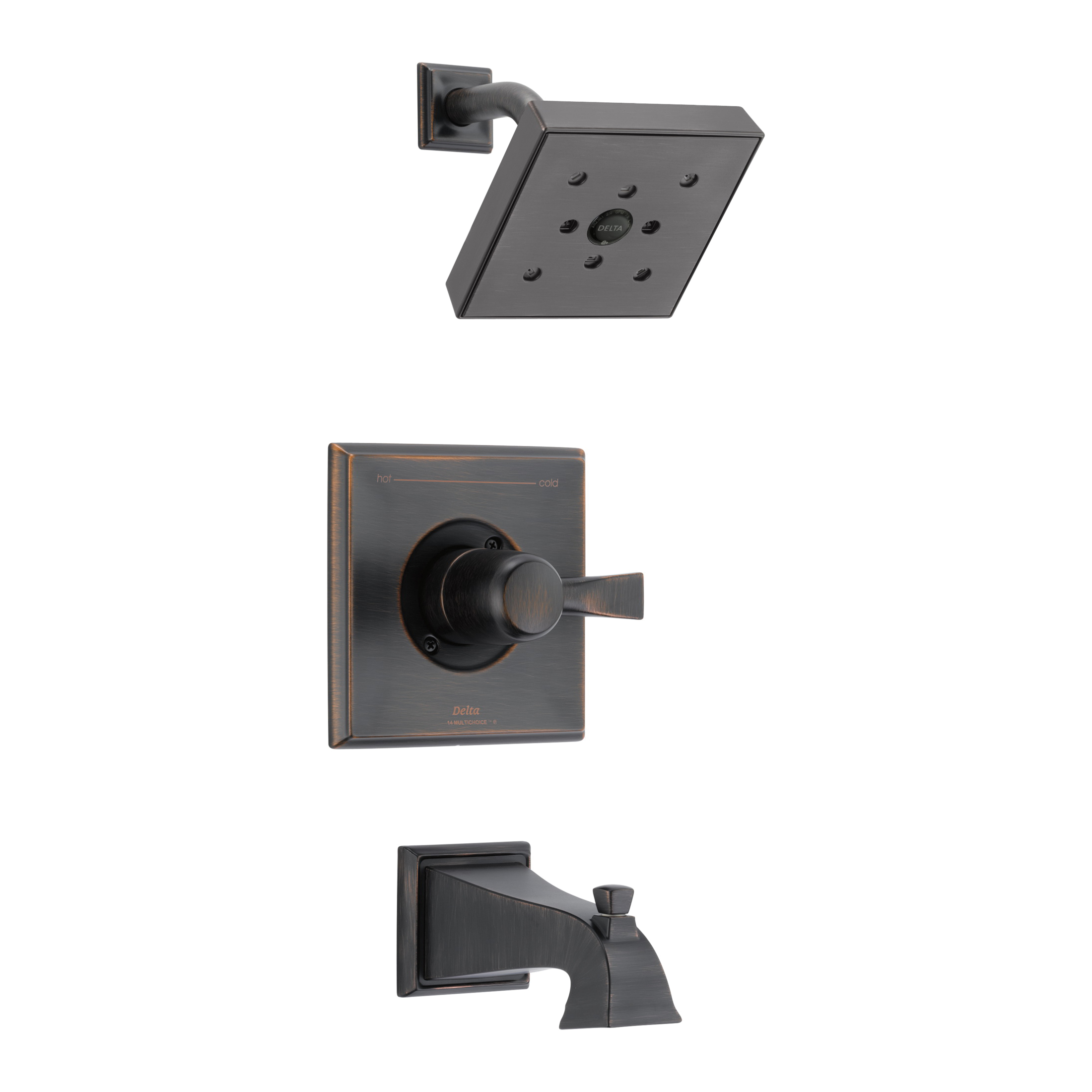 DELTA® T14451-RBH2O Monitor® 14 Tub and Shower Trim, 1.75 gpm Shower, Hand Shower Yes/No: No, Venetian Bronze