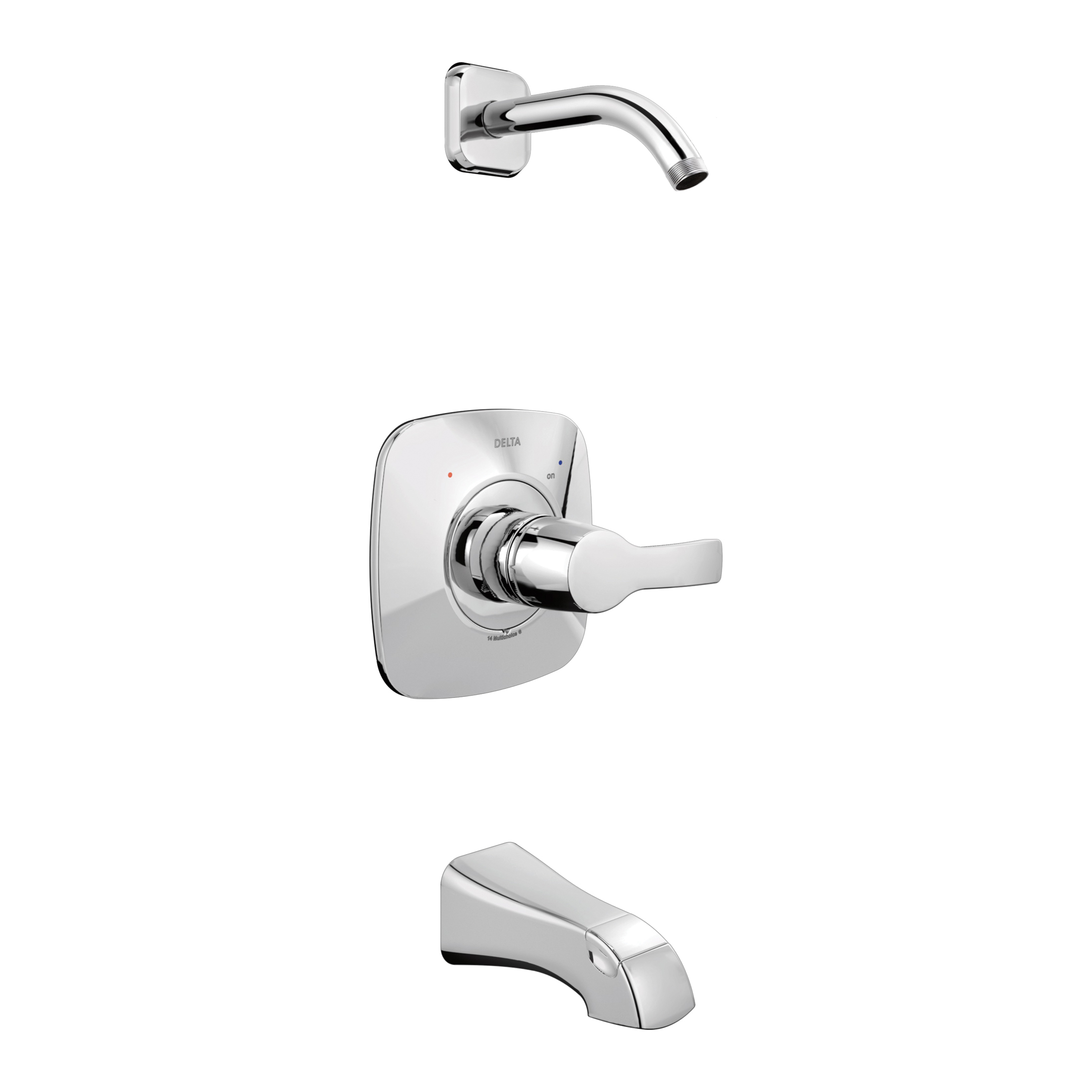 DELTA® T14452-LHD Monitor® 14 Tub and Shower Trim, Hand Shower Yes/No: No, Chrome Plated