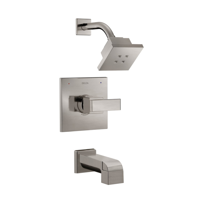 DELTA® T14467-SSH2O Monitor® 14 Tub and Shower Trim, 1.5 gpm Shower, Hand Shower Yes/No: No, Brilliance® Stainless Steel