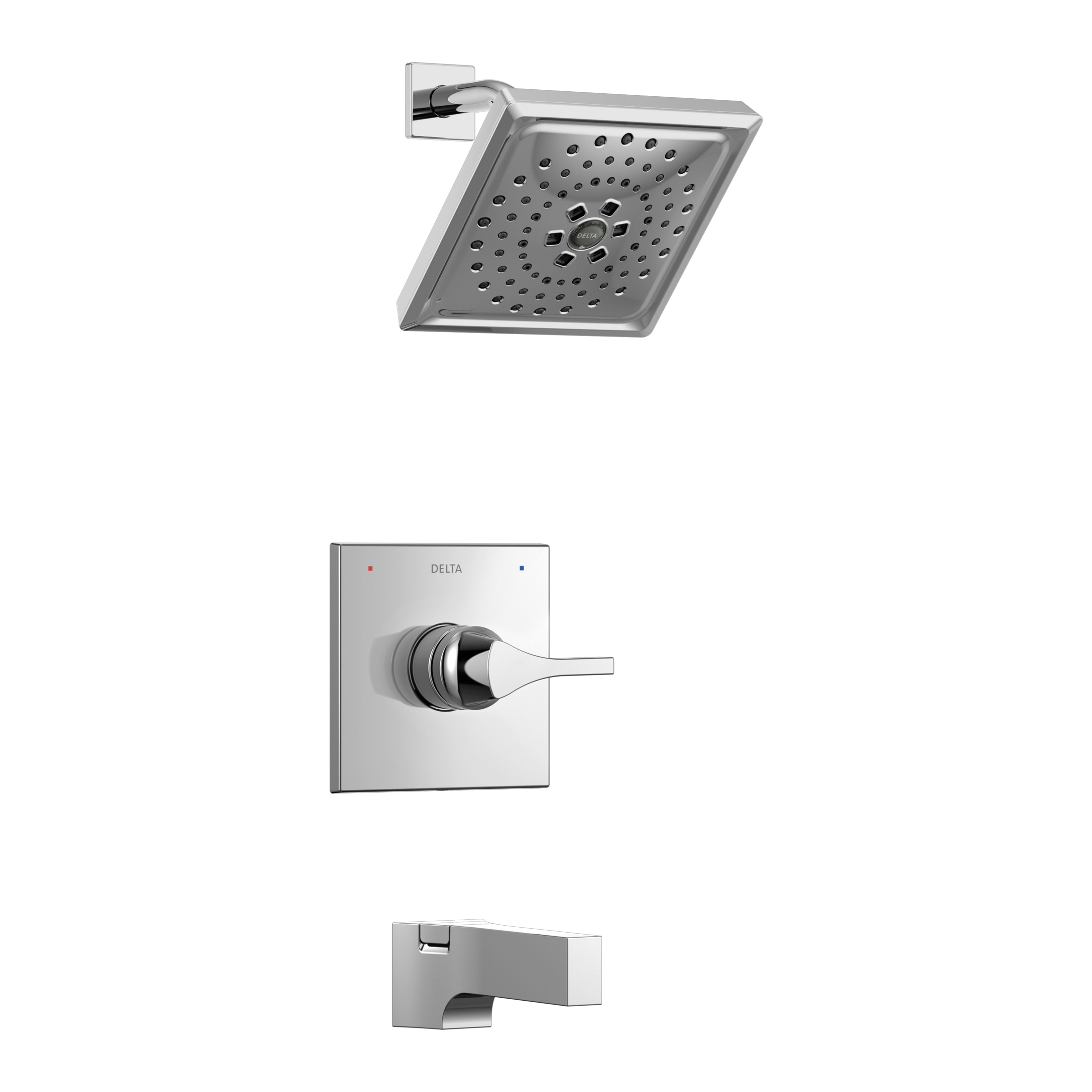 DELTA® T14474 Monitor® 14 Tub and Shower Trim, 1.75 gpm Shower, Hand Shower Yes/No: No, Chrome Plated