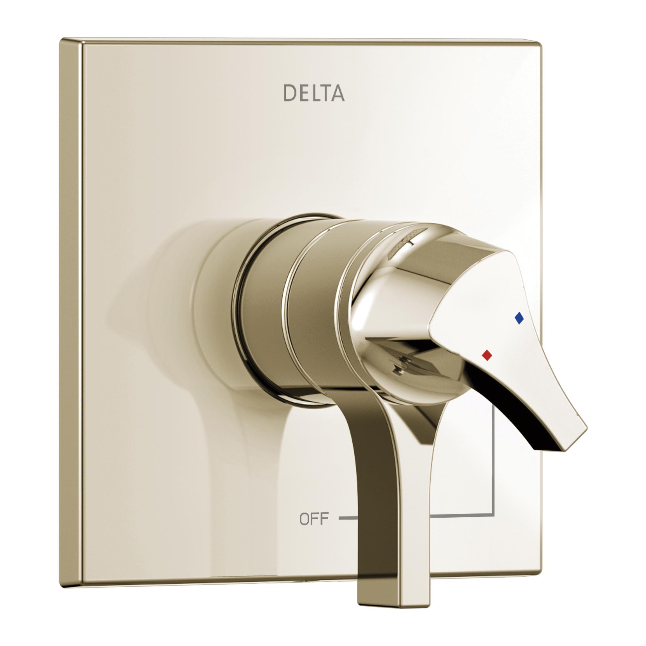 DELTA® T17074-PN Monitor® 17 Zura™ Valve Trim Only, 2 gpm Shower, Polished Nickel
