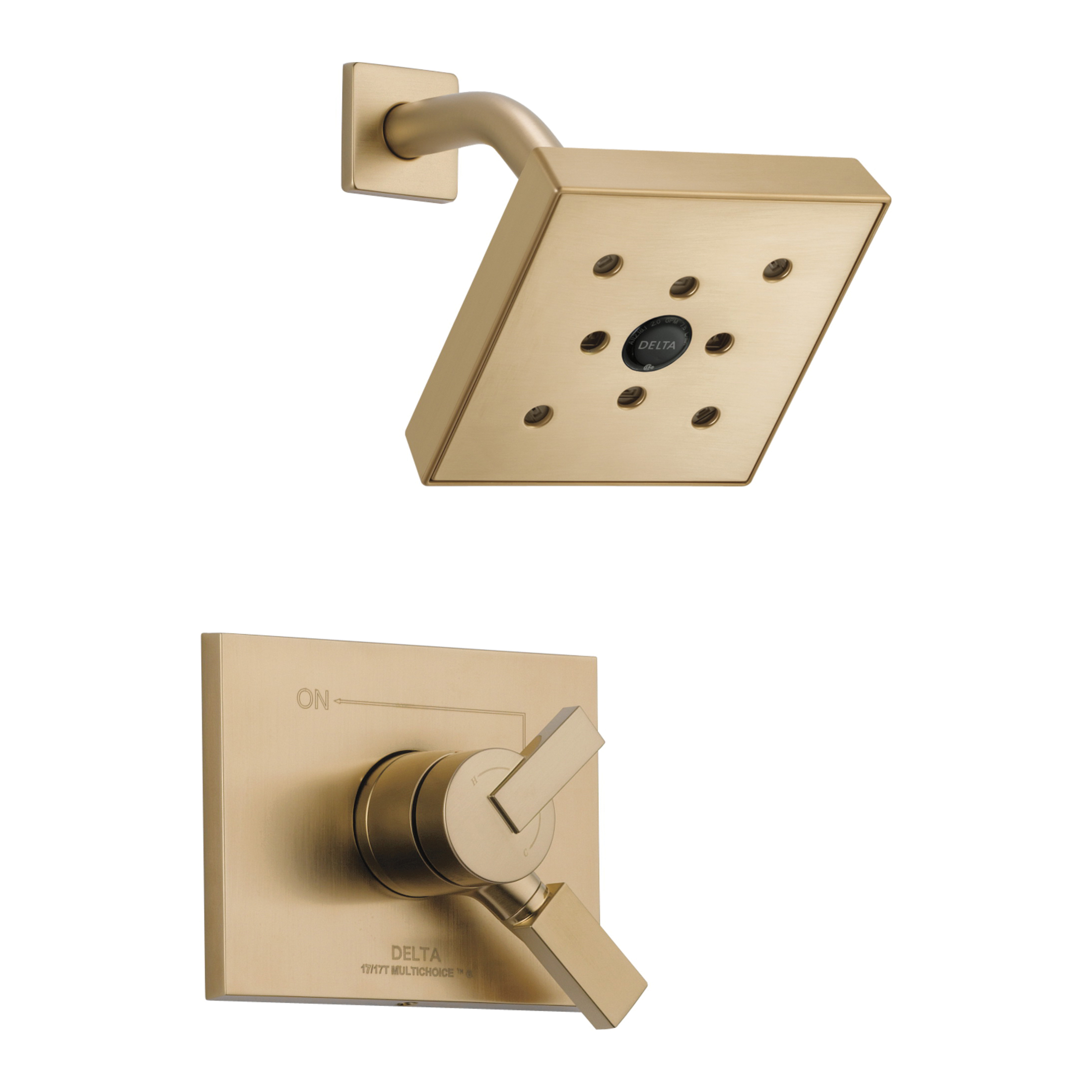 DELTA® T17253-CZH2O Monitor® 17 Shower Trim, 1.75 gpm Shower, Hand Shower Yes/No: No, Champagne Bronze