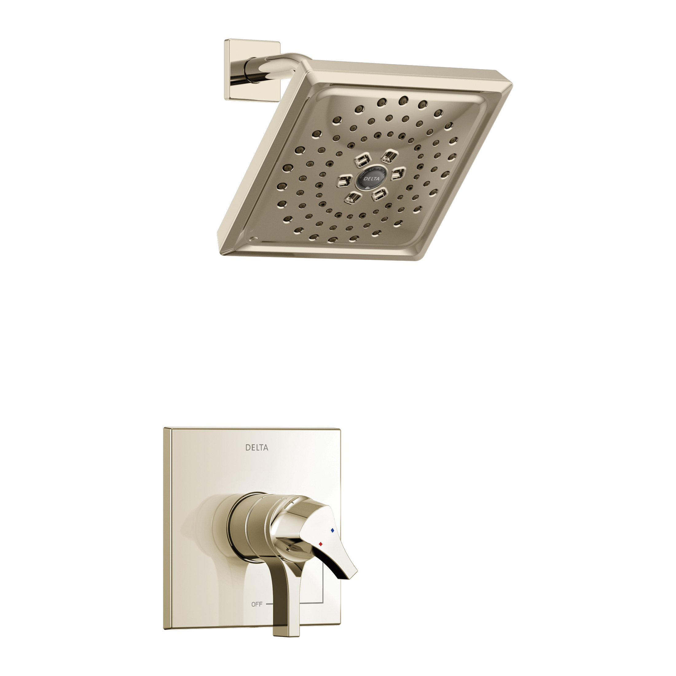 DELTA® T17274-PN Monitor® 17 Shower Trim, 1.75 gpm Shower, Hand Shower Yes/No: No, Polished Brass