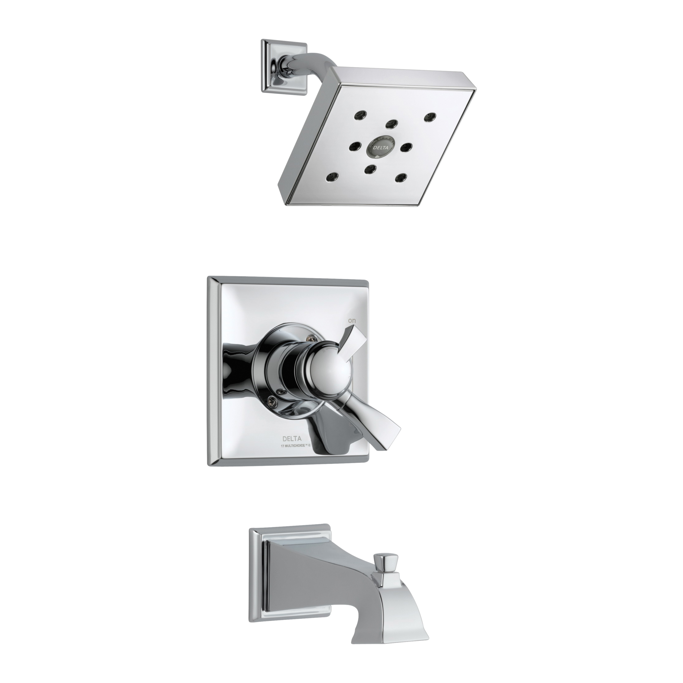DELTA® T17451-H2O Monitor® 17 Tub and Shower Trim, 1.75 gpm Shower, Hand Shower Yes/No: No, Chrome Plated