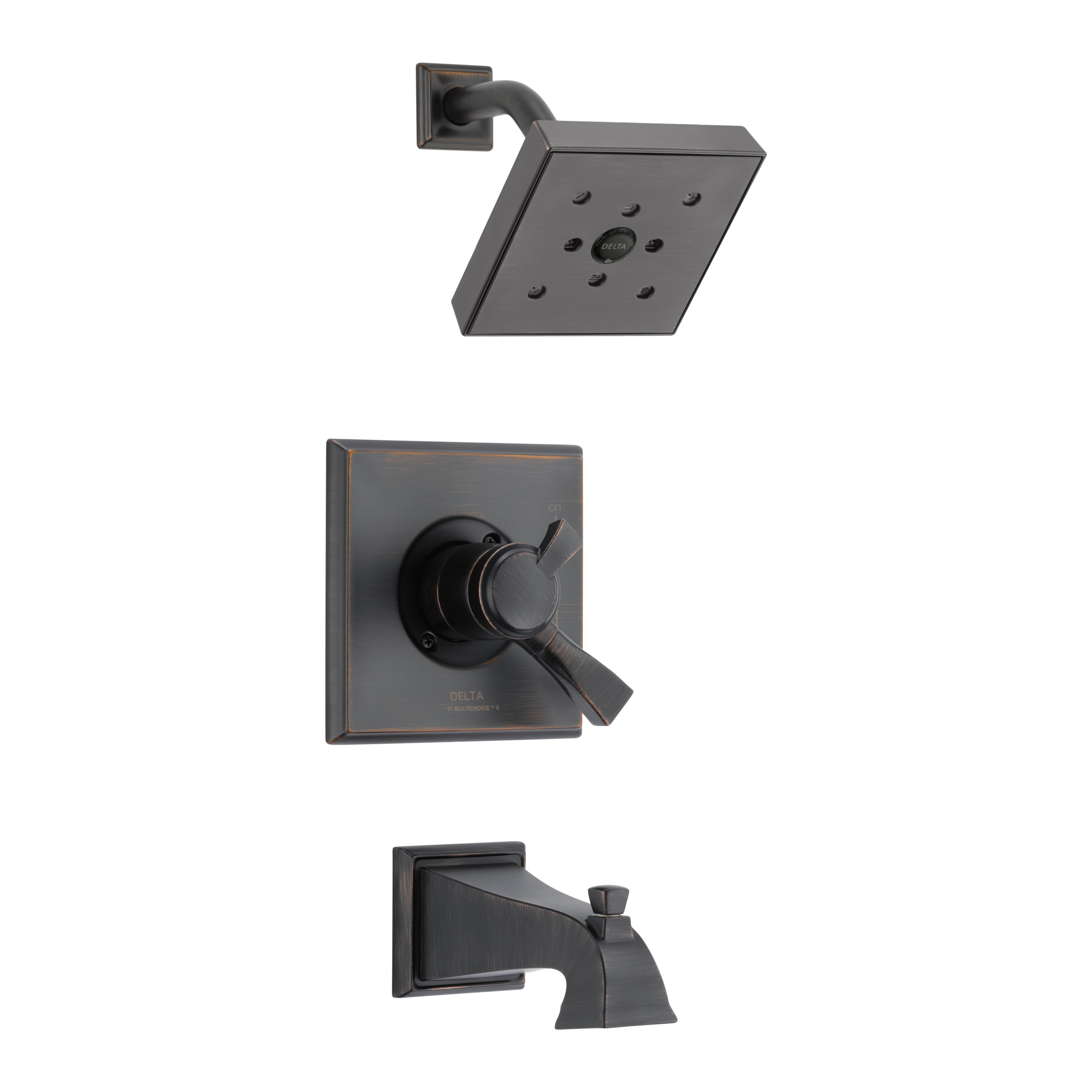 DELTA® T17451-RBH2O Monitor® 17 Tub and Shower Trim, 1.75 gpm Shower, Hand Shower Yes/No: No, Venetian Bronze
