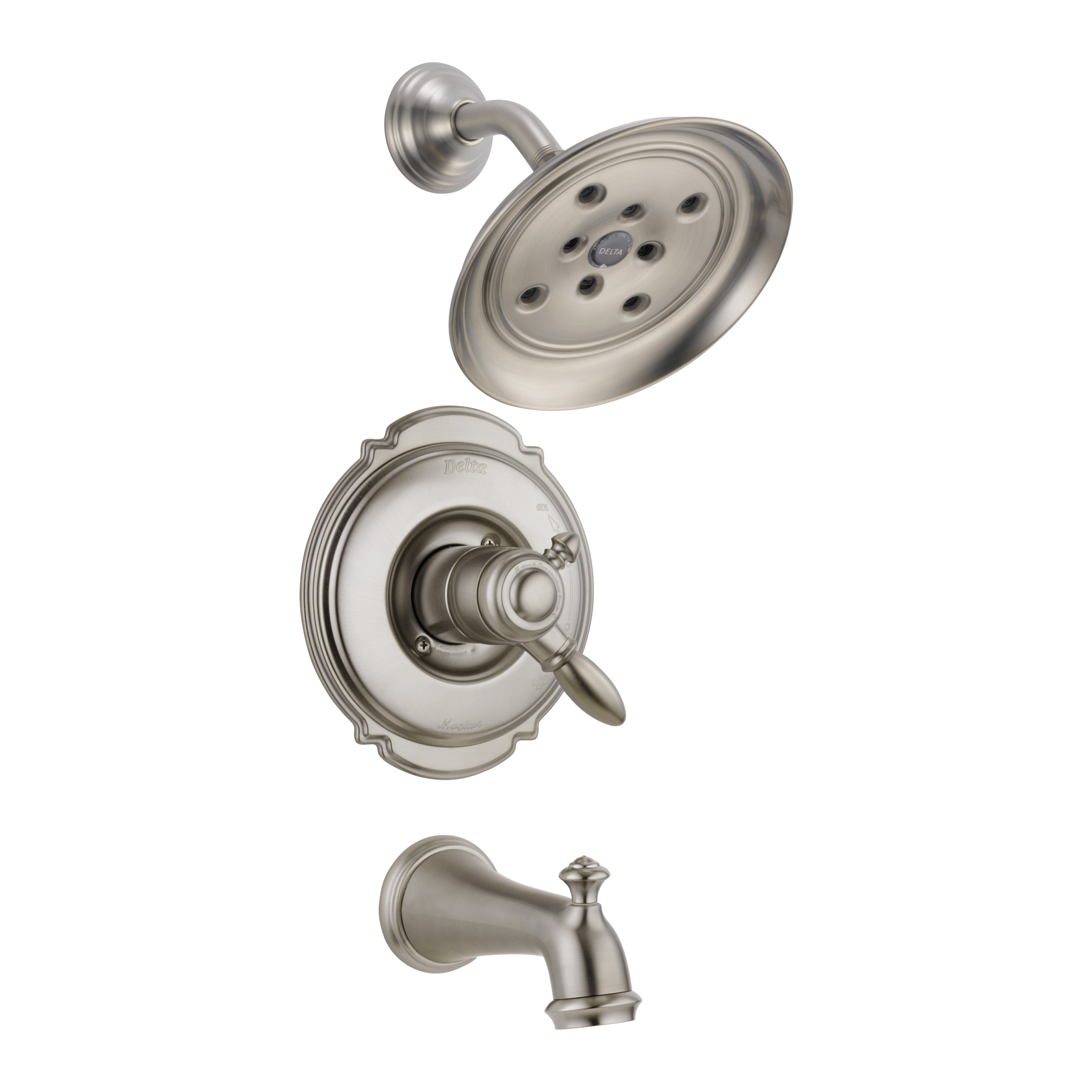 DELTA® T17455-SSH2O Monitor® 17 Tub and Shower Faucet Trim, 1.75 gpm Shower, Hand Shower Yes/No: No, Brilliance® Stainless Steel