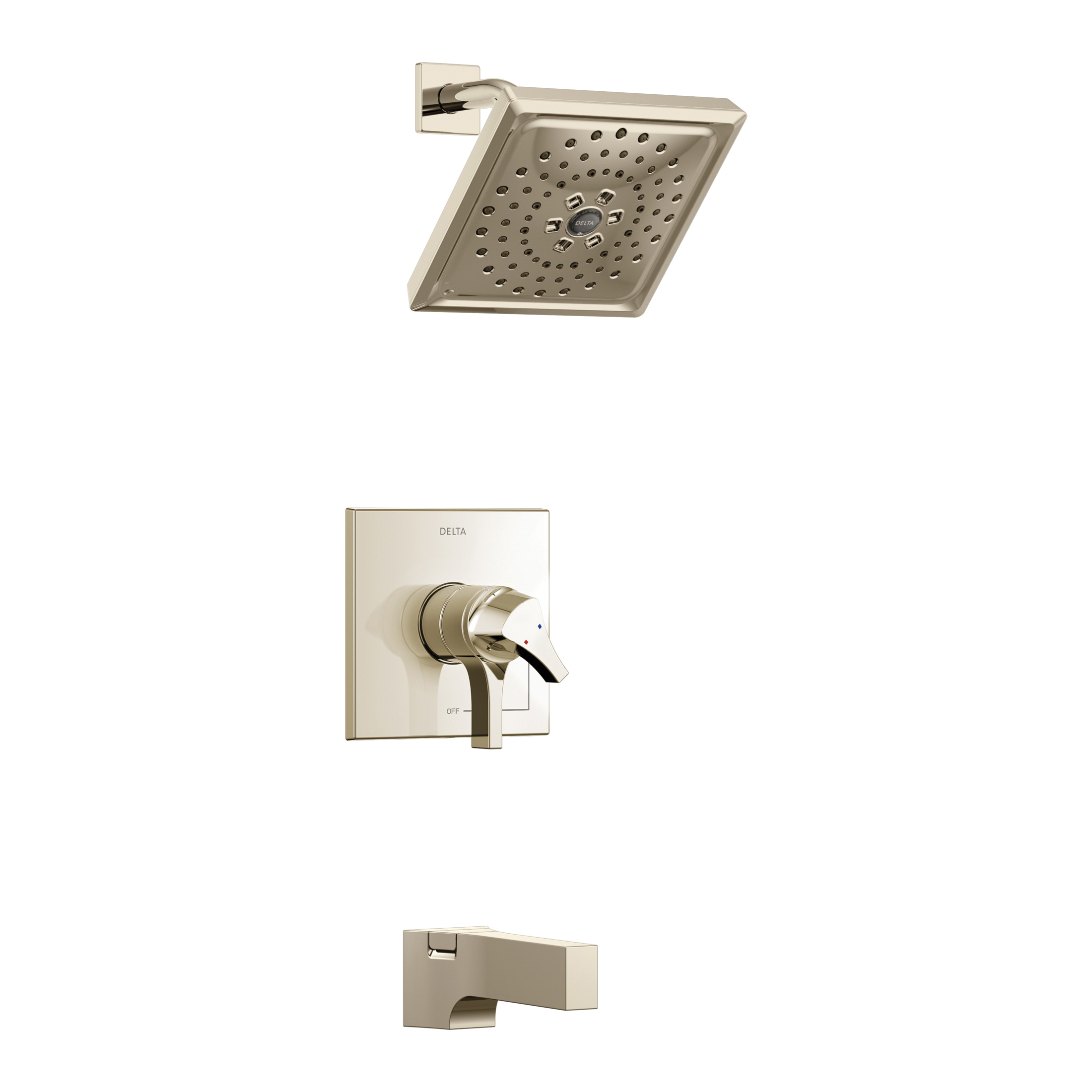 DELTA® T17474-PN Monitor® 17 Tub and Shower Faucet Trim, 1.75 gpm Shower, Hand Shower Yes/No: No, Brilliance® Polished Nickel