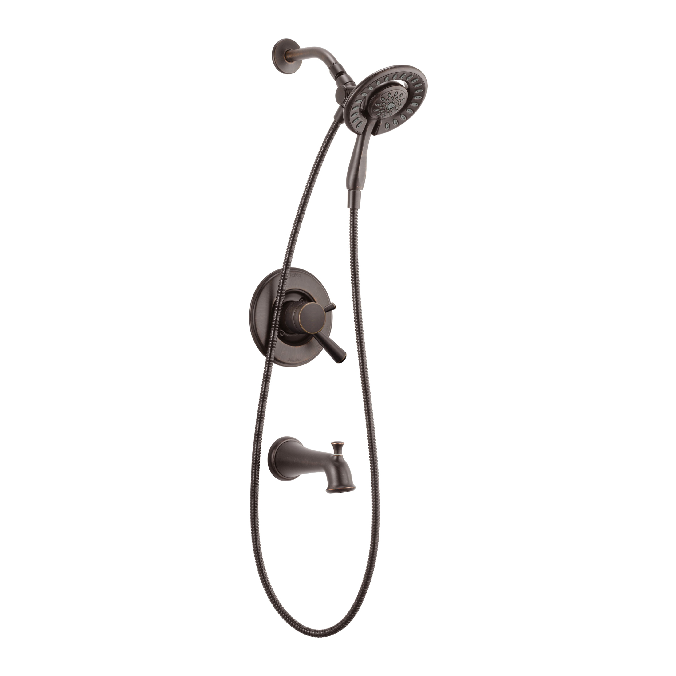 DELTA® T17493-RB-I Monitor® 17 Tub and Shower Trim, 1.75 gpm Shower, Hand Shower Yes/No: Yes, Venetian Bronze