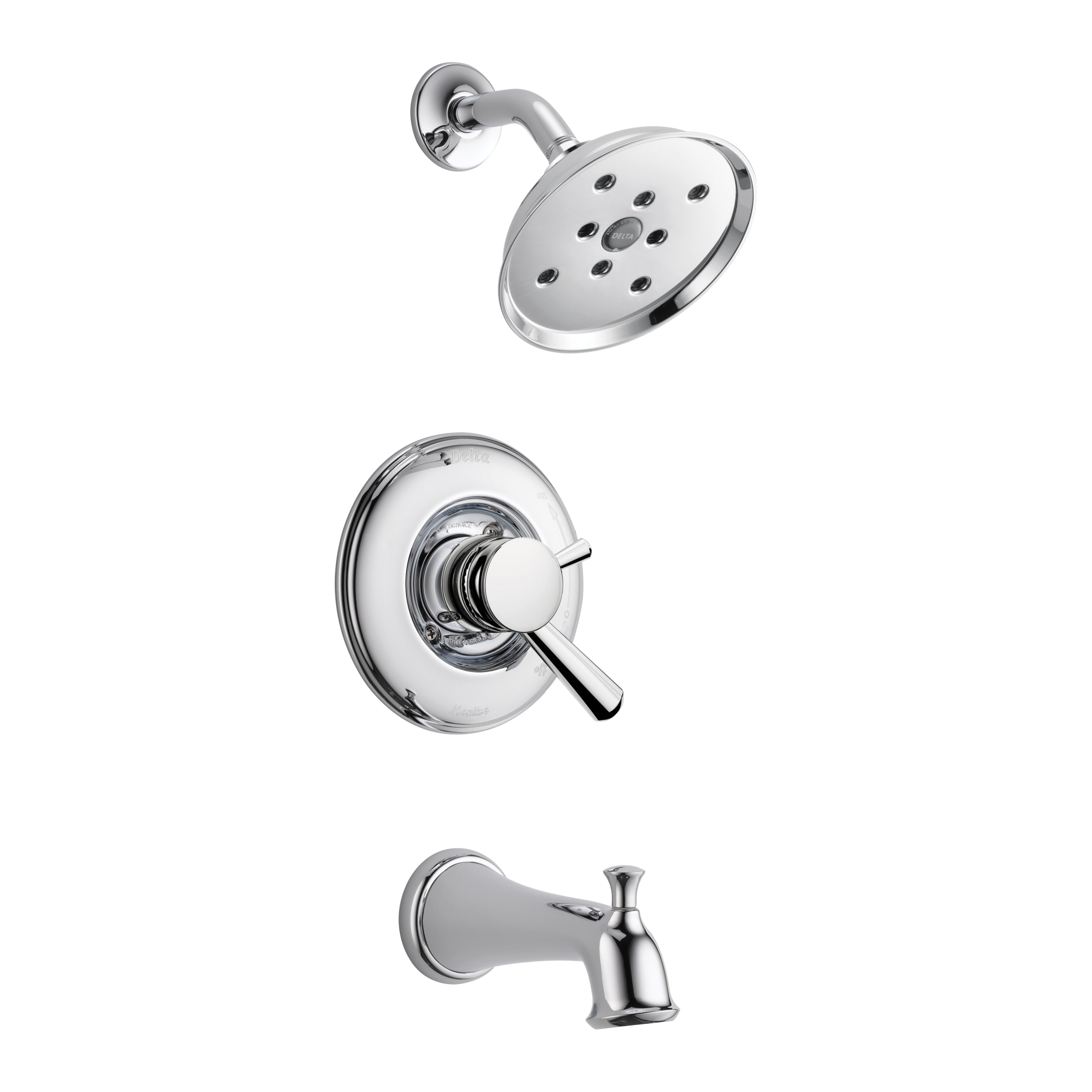 DELTA® T17493 Monitor® 17 Tub and Shower Trim, 1.75 gpm Shower, Hand Shower Yes/No: No, Chrome Plated