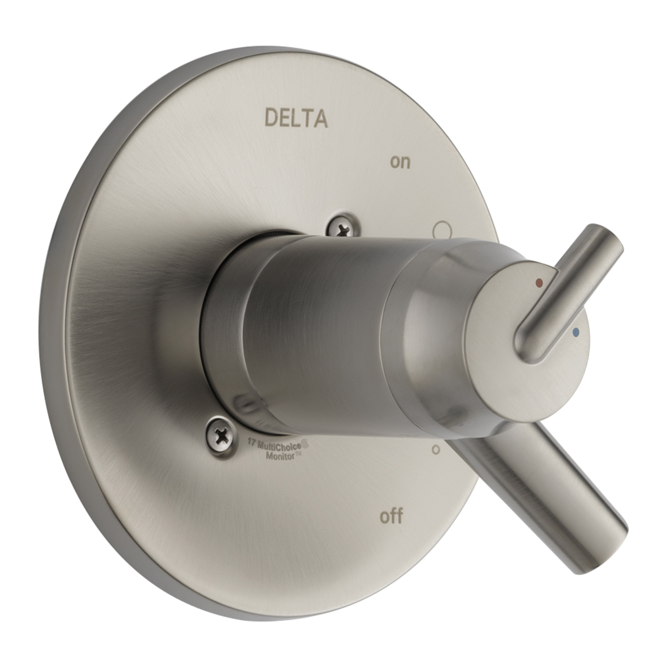 DELTA® T17T059-SS TempAssure® 17T Valve Trim Only, 1.75 gpm Shower, Stainless Steel