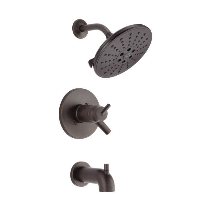 DELTA® T17T459-RBH2O TempAssure® 17T Tub and Shower Faucet Trim, 1.75 gpm Shower, Hand Shower Yes/No: No, Venetian Bronze