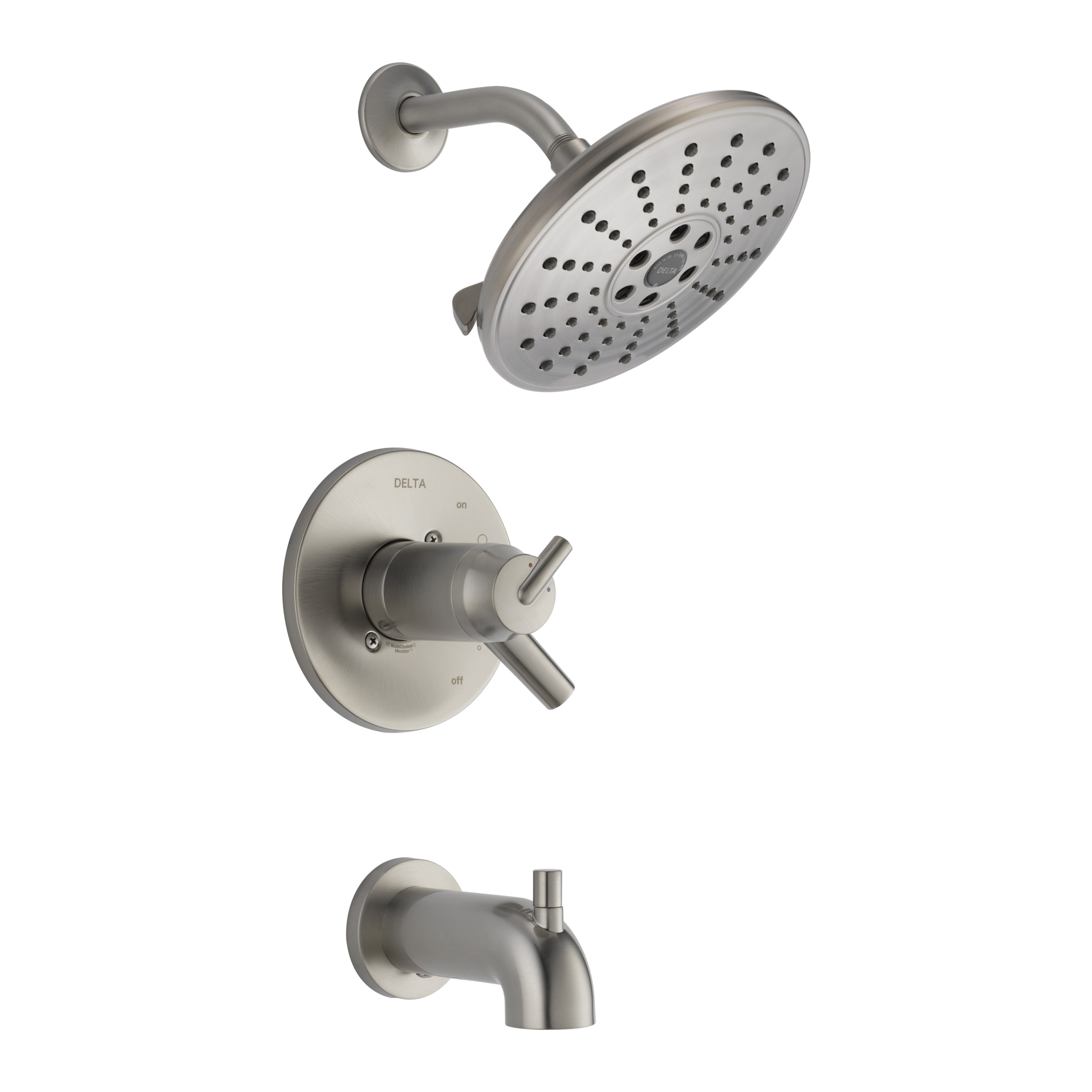 DELTA® T17T459-SSH2O TempAssure® 17T Tub and Shower Faucet Trim, 1.75 gpm Shower, Hand Shower Yes/No: No, Brilliance® Stainless Steel