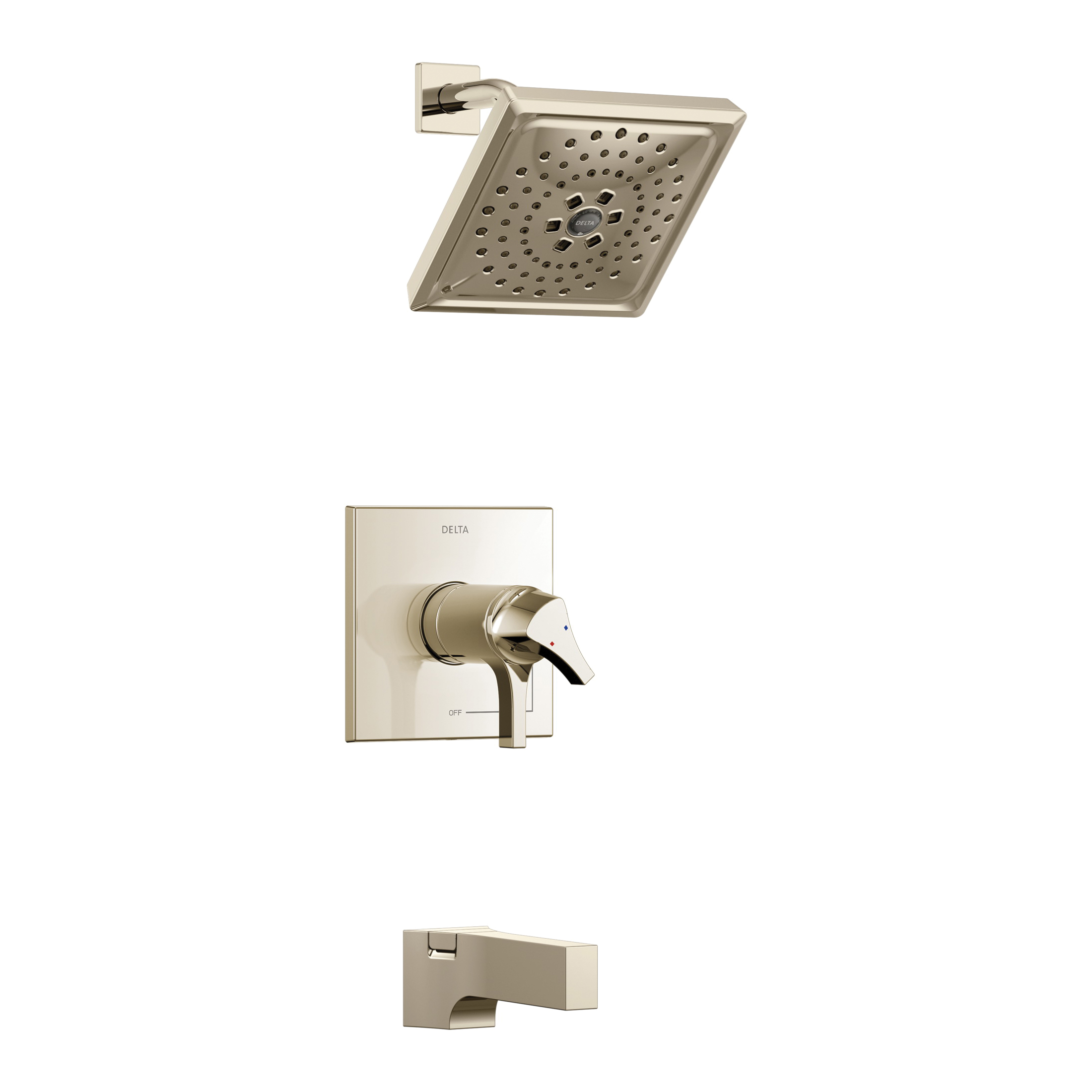 DELTA® T17T474-PN TempAssure® 17T Tub and Shower Faucet Trim, 1.75 gpm Shower, Hand Shower Yes/No: No, Brilliance® Polished Nickel