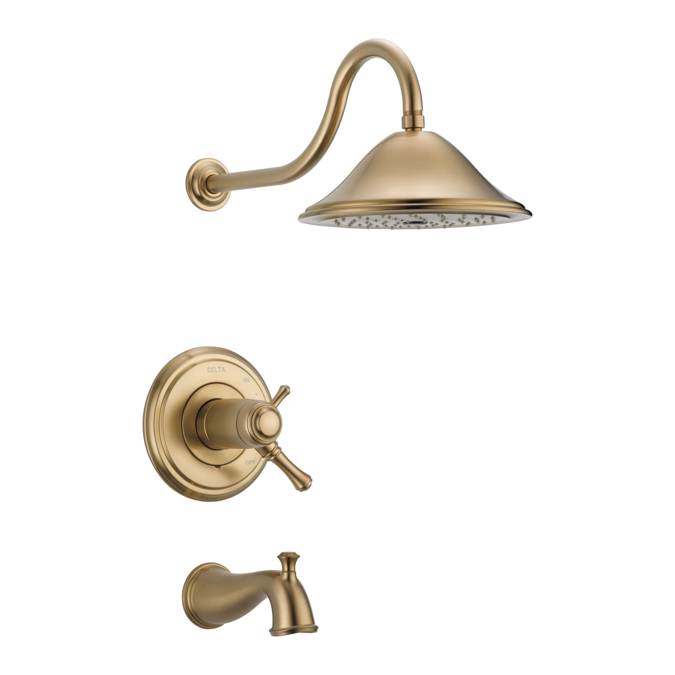 DELTA® T17T497-CZ TempAssure® 17T Tub and Shower Trim, 2.5 gpm Shower, Hand Shower Yes/No: No, Brilliance® Champagne Bronze