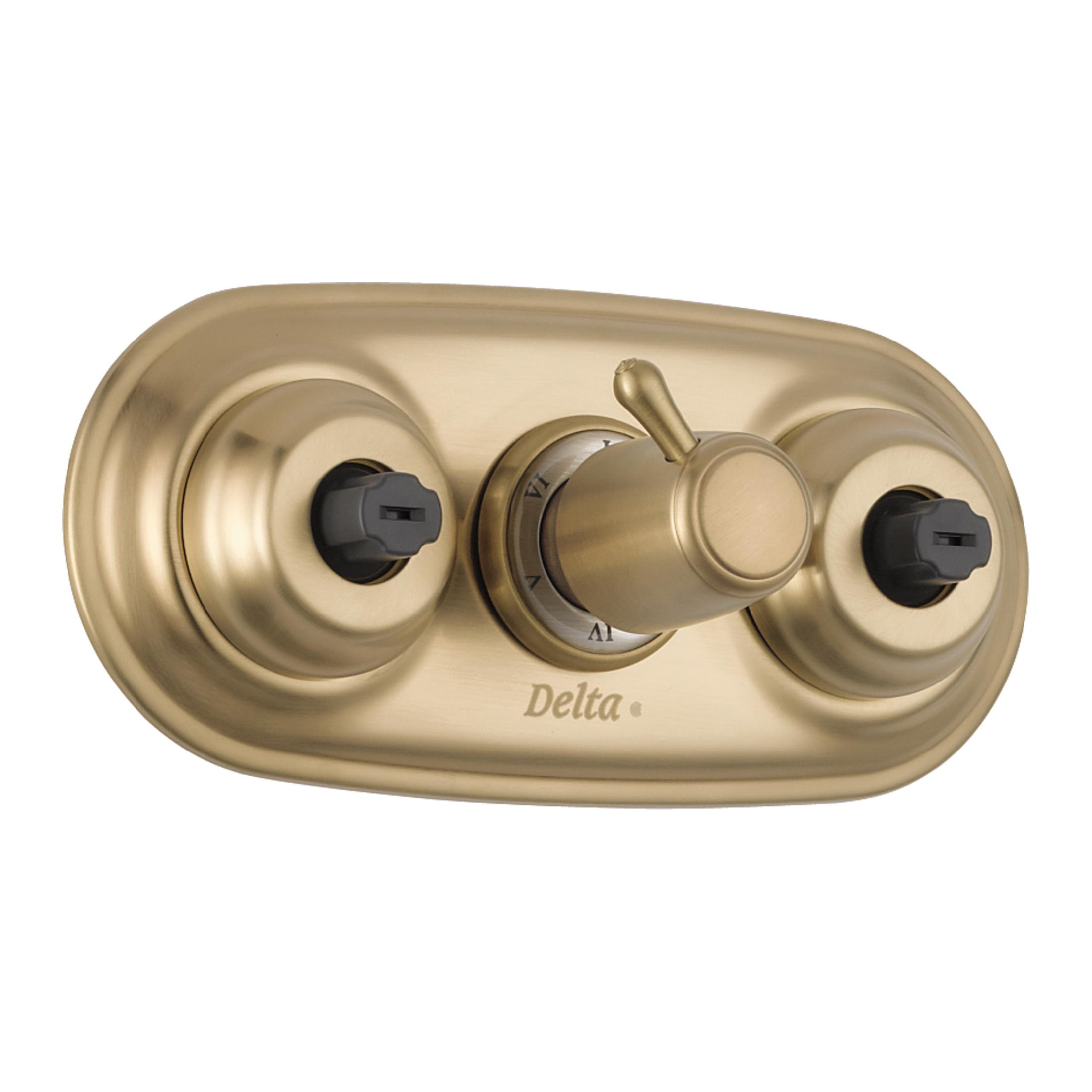 DELTA® T18037-CZXO XO Jet Module® Jetted Shower™ Diverter Trim, 2.5 gpm Shower, Hand Shower Yes/No: No, Brilliance® Champagne Bronze