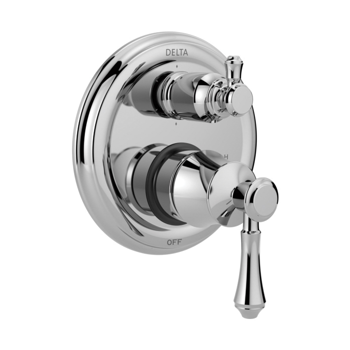 DELTA® T24997 Monitor® 14 6-Setting Traditional Valve Trim, Chrome Plated